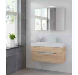 Ensemble de meubles de salle de bains Mino armoire à glace 100 bardolino
