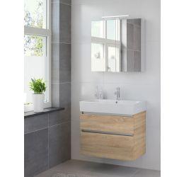 Ensemble de meubles de salle de bains Passo armoire à glace 75 bardolino