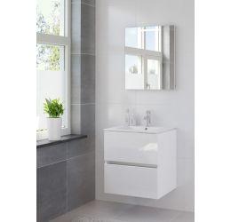 Ensemble de meubles de salle de bains Miko miroir 60 blanc brillant