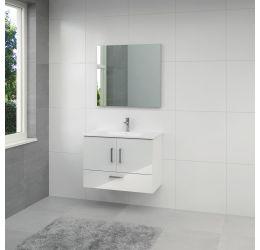 Omni badmeubel 85cm hoogglans wit spiegel