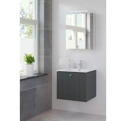 Ensemble de meubles de salle de bains Bino 60cm lavabo céramique blanc