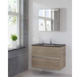 Ensemble de meubles de salle de bains Miko 90 cm lavabo granit