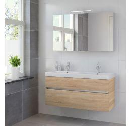 Ensemble de meubles de salle de bains Nano 2tiroirs armoire à glace 120 bardolino