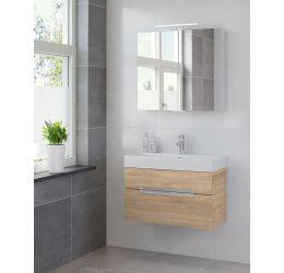 Ensemble de meubles de salle de bains Mino armoire à glace 80 bardolino