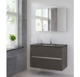Ensemble de meubles de salle de bains Miko 100 cm lavabo granit