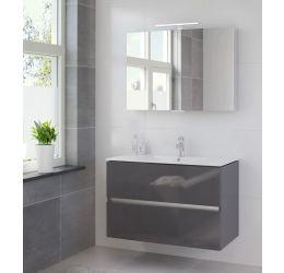 Ensemble de meubles de salle de bains Miko 100cm lavabo céramique blanc
