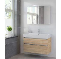 Ensemble de meubles de salle de bains Passo armoire à glace 100 bardolino