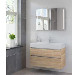 Ensemble de meubles de salle de bains Passo miroir 100 bardolino