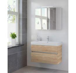 Ensemble de meubles de salle de bains Nano armoire à glace 90 bardolino