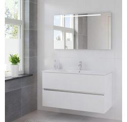 Ensemble de meubles de salle de bains Miko 120cm lavabo céramique blanc