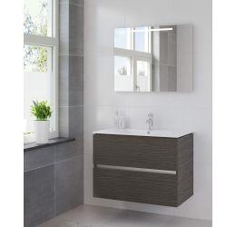 Ensemble de meubles de salle de bains Miko 90cm lavabo céramique blanc