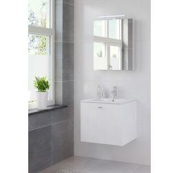Ensemble de meubles de salle de bains Bino armoire à glace 60 blanc pur