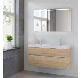 Ensemble de meubles de salle de bains Nano 2tiroirs miroir 120 bardolino