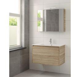 Ensemble meuble Matera armoire à miroir 90 cm bardolino