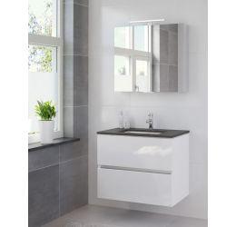 Ensemble de meubles de salle de bains Miko 80 cm lavabo granit
