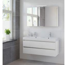 Ensemble de meubles de salle de bains Palitano 120cm (lavabo double)
