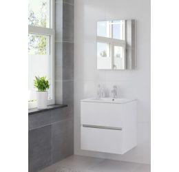 Ensemble de meubles de salle de bains Miko 60cm lavabo céramique blanc