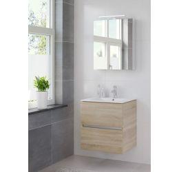 Ensemble de meubles de salle de bains Miko armoire à glace 60 bardolino