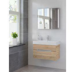 Ensemble de meubles de salle de bains Mino miroir 80 bardolino