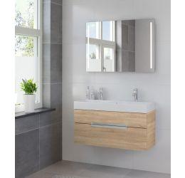 Ensemble de meubles de salle de bains Mino miroir 100 bardolino