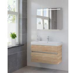 Ensemble de meubles de salle de bains Nano miroir 90 bardolino