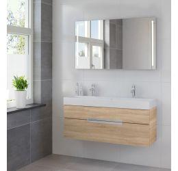 Ensemble de meubles de salle de bains Mino miroir 120 bardolino
