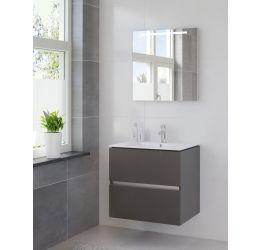 Ensemble de meubles de salle de bains Miko 70cm lavabo céramique blanc