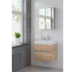 Ensemble de meubles de salle de bains Nano armoire à glace 60 bardolino