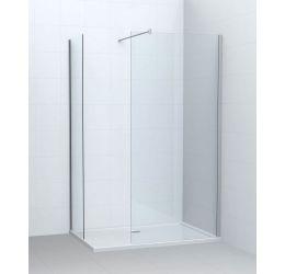 Flux douchewand + 2 zijpanelen met hoek