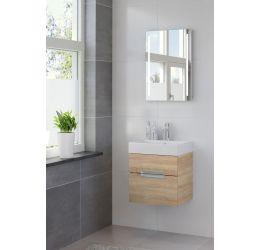Ensemble de meubles de salle de bains Mino miroir 50 bardolino