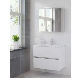 Ensemble de meubles de salle de bains Miko 80cm lavabo céramique blanc