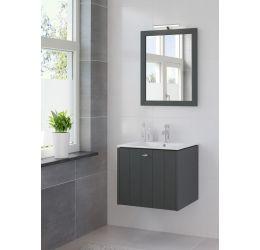 Ensemble de meubles de salle de bains Bino miroir 60 noir nuit