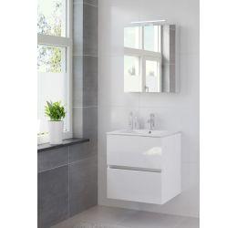 Miko badmeubelset spiegelkast 60 hoogglans wit