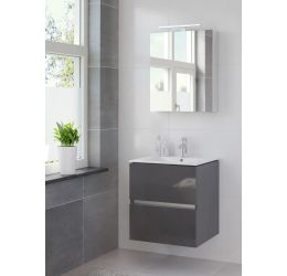 Miko badmeubelset spiegelkast 60 hoogglans antraciet
