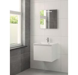 Nerano badmeubelset spiegel 60cm mat wit wasbak