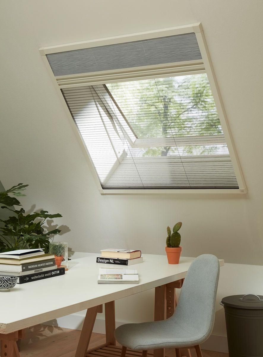 plisse hor voor raam